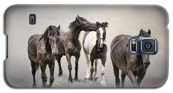 Friesian Horses The Boys And Baby Sister Galaxy S5 Case