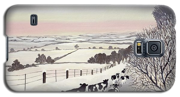 Landscapes Galaxy S5 Case - Friesians In Winter by Maggie Rowe