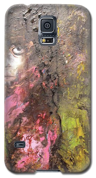 Galaxy S5 Case featuring the painting Frightened by Koro Arandia