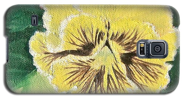 Frilly Yellow Pansy Galaxy S5 Case