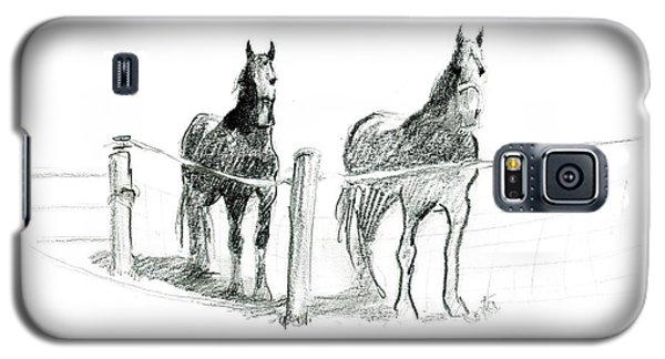 Friesian Horses Galaxy S5 Case