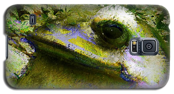 Galaxy S5 Case featuring the photograph Frog In The Pond by Lori Seaman