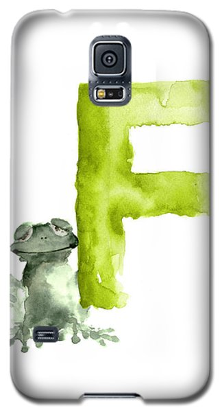 Frog Watercolor Alphabet Painting Galaxy S5 Case