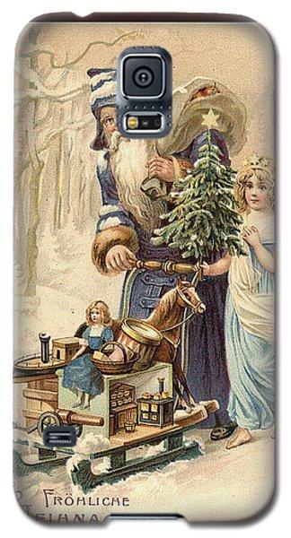 Frohe Weihnachten Vintage Greeting Galaxy S5 Case by Melissa Messick