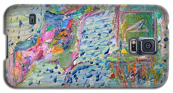 Galaxy S5 Case featuring the painting From The Altered City by Fabrizio Cassetta