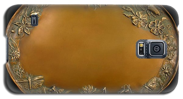 Galaxy S5 Case featuring the sculpture From The Foothills Bronze Tray by Dawn Senior-Trask