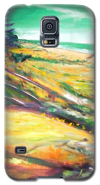 Galaxy S5 Case featuring the painting From The Lawn Pandanus by Winsome Gunning