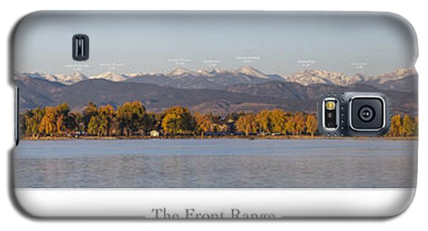 Front Range With Peak Labels Galaxy S5 Case