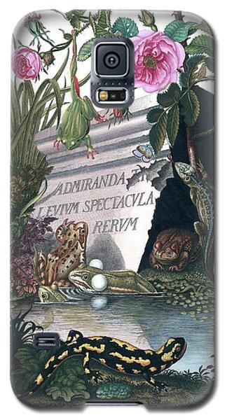 Frontis Of Historia Naturalis Ranarum Nostratium Galaxy S5 Case by ArtistAugust Johann Roesel von Rosenhof