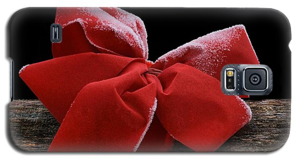 Galaxy S5 Case featuring the photograph Frosted Bow by Nikolyn McDonald