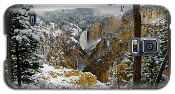 Galaxy S5 Case featuring the photograph Frosted Canyon by Steve Stuller
