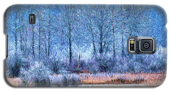 Galaxy S5 Case featuring the digital art Frosty Morning At The Marsh Photo Art by Sharon Talson