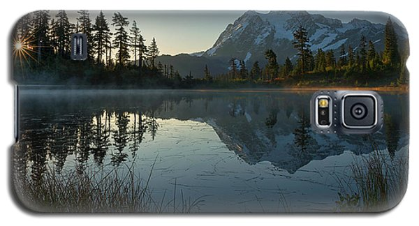 Galaxy S5 Case featuring the photograph Frosty Picture Lake by Dan Mihai