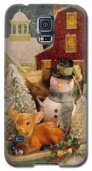 Galaxy S5 Case featuring the painting Frosty The Snowman by Mo T