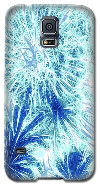 Galaxy S5 Case featuring the digital art Frozen Blue Ice by Methune Hively