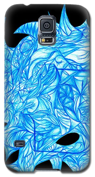 Galaxy S5 Case featuring the drawing Frozen Desire by Jamie Lynn