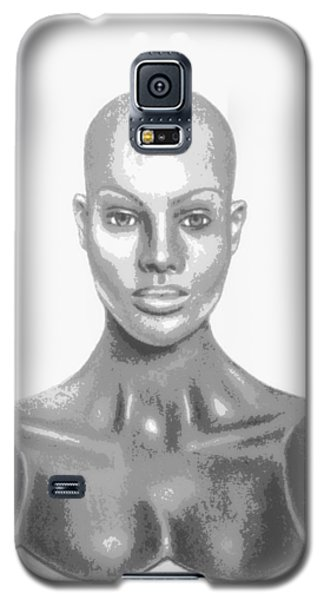 Bald Superficial Woman Mannequin Art Drawing  Galaxy S5 Case