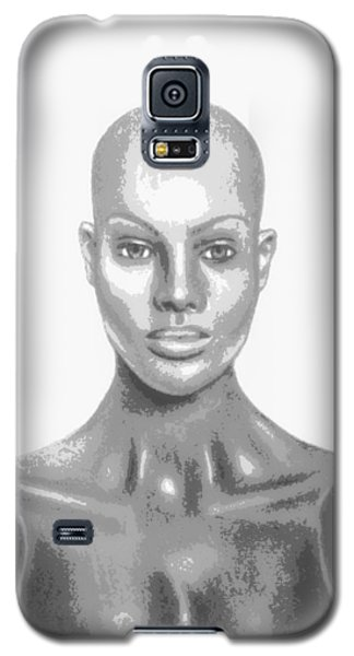 Superficial Bald Woman Art Charcoal Drawing  Galaxy S5 Case