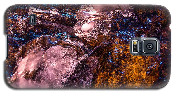 Galaxy S5 Case featuring the photograph Frozen Lake Abstract by Tom Potter