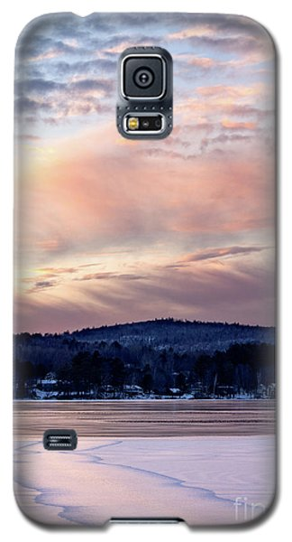 Frozen Lake Sunset In Wilton Maine  -78096-78097 Galaxy S5 Case
