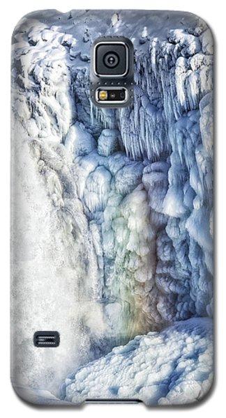 Galaxy S5 Case featuring the photograph Frozen Waterfall Gullfoss Iceland by Matthias Hauser