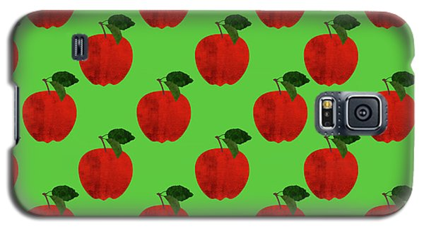 Fruit 02_apple_pattern Galaxy S5 Case by Bobbi Freelance