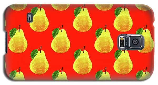 Fruit 03_pear_pattern Galaxy S5 Case by Bobbi Freelance