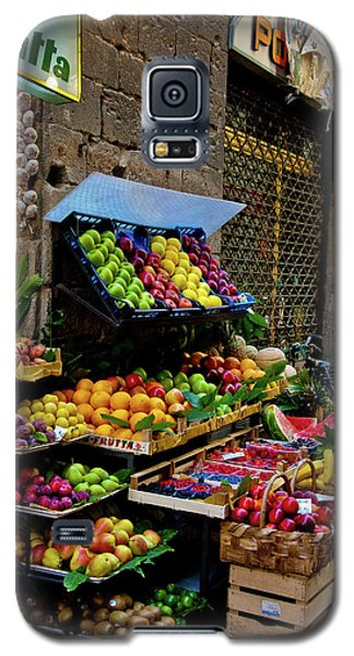 Galaxy S5 Case featuring the photograph Fruit Stand  by Harry Spitz