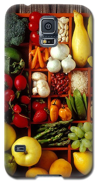 Fruits And Vegetables In Compartments Galaxy S5 Case