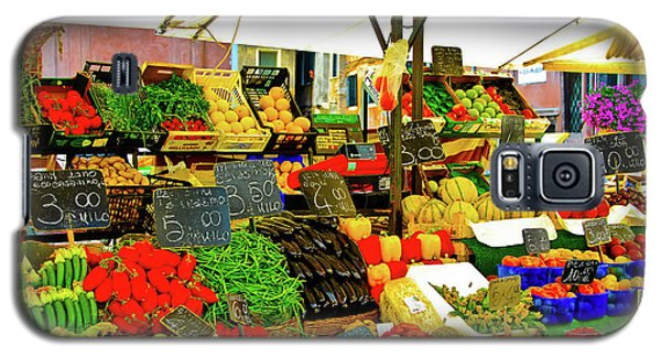 Galaxy S5 Case featuring the photograph Fruttolo Italian Vegetable Stand by Harry Spitz