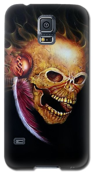 Fsu Flamming Skull Galaxy S5 Case