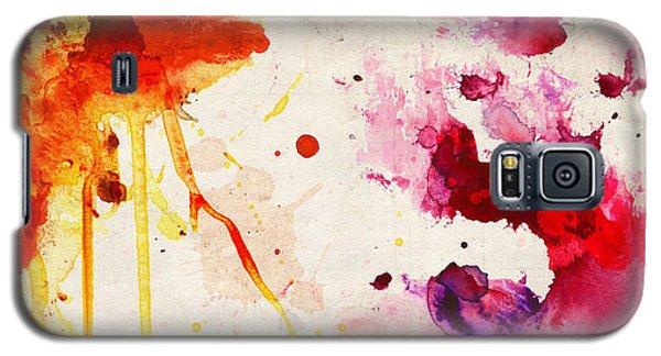 Fuchsia And Orange Color Splash Galaxy S5 Case