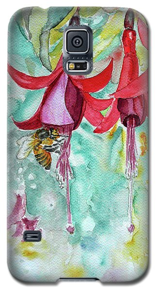 Galaxy S5 Case featuring the painting  Fuchsia by Jasna Dragun