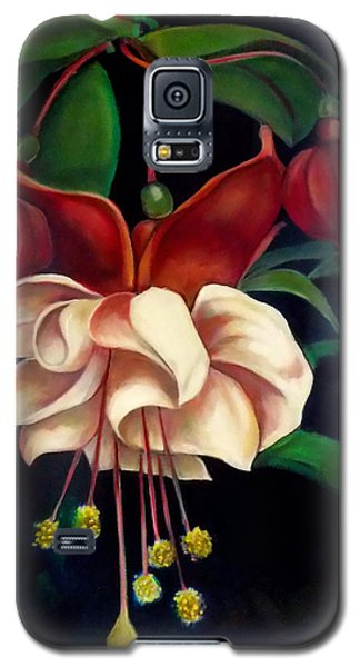 Galaxy S5 Case featuring the painting Fuchsias by Irena Mohr