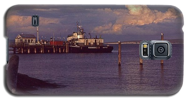 Fuel Dock, Port Townsend Galaxy S5 Case by Laurie Stewart