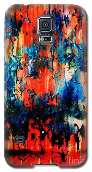 Galaxy S5 Case featuring the painting Fueled By Desire by Roberto Prusso