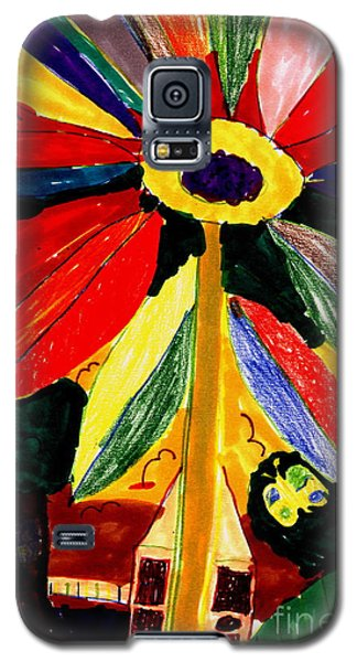 Galaxy S5 Case featuring the painting Full Bloom - My Home 2 by Angela L Walker