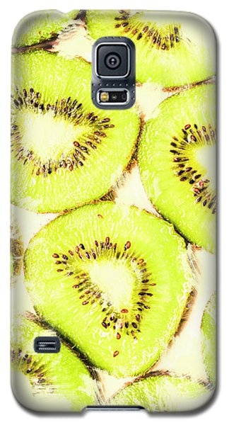 Full Frame Shot Of Fresh Kiwi Slices With Seeds Galaxy S5 Case