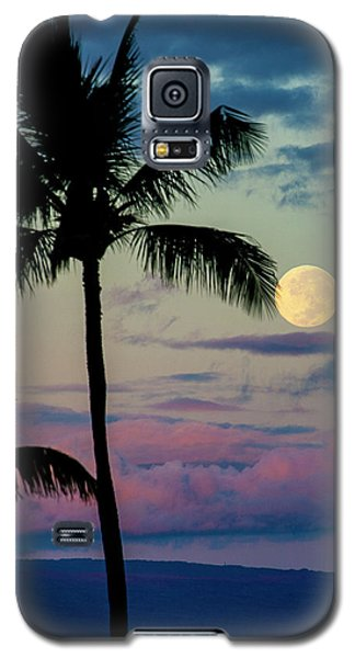 Full Moon And Palm Trees Galaxy S5 Case