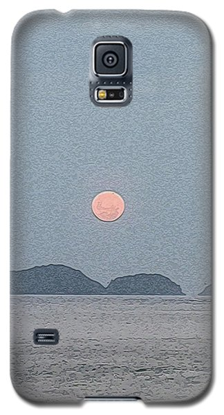 Full Moon At The Beach Galaxy S5 Case