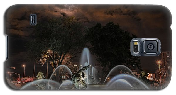 Full Moon At The Fountain Galaxy S5 Case