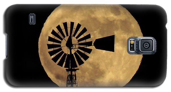 Full Moon Behind Windmill Galaxy S5 Case