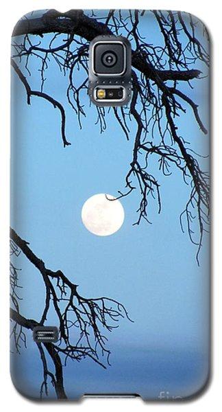 Full Moon Blue Sky Galaxy S5 Case