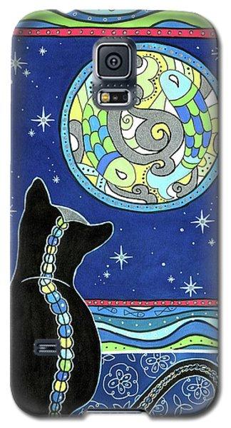 Pisces Cat Zodiac - Full Moon Galaxy S5 Case