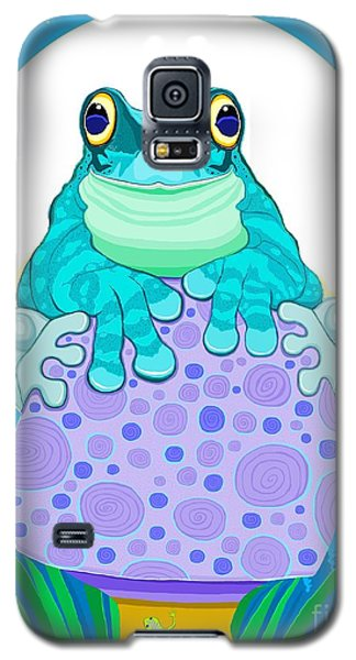 Galaxy S5 Case featuring the digital art Full Moon Froggy  by Nick Gustafson
