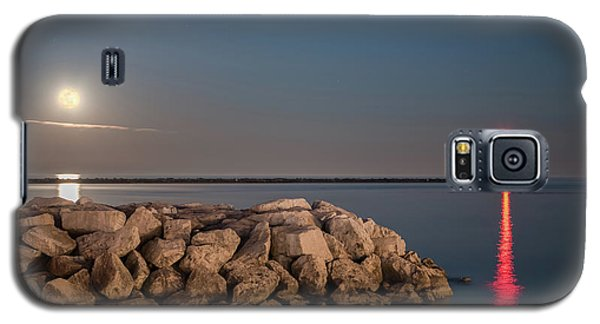 Full Moon In Port Galaxy S5 Case