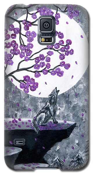 Galaxy S5 Case featuring the painting Full Moon Magic by Teresa Wing