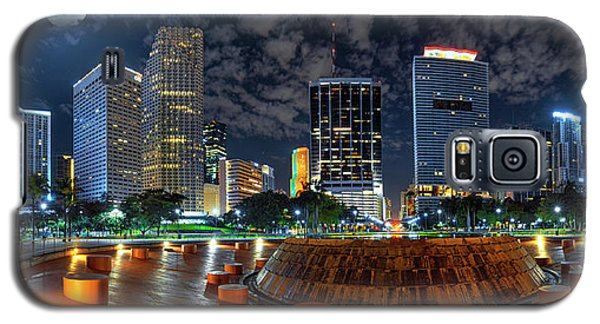 Full Moon Over Bayfront Park In Downtown Miami Galaxy S5 Case