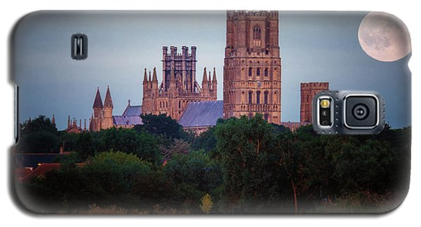 Full Moon Over Ely Cathedral Galaxy S5 Case