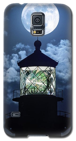 Full Moon Over Hillsboro Lighthouse In Pompano Beach Florida  Galaxy S5 Case by Justin Kelefas
